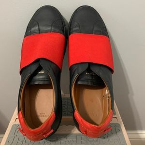 Givenchy Men's Black/Red Slip-on Sneaker (Size 14)